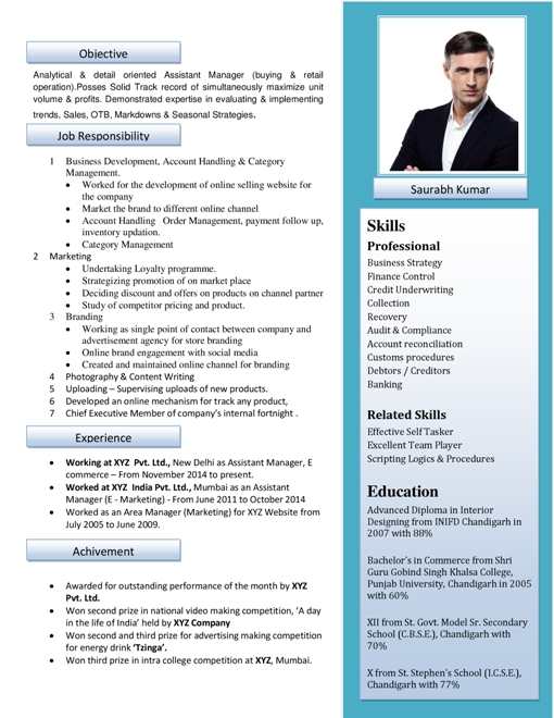 Resume Format Samples | Download Free Professional Resume Format