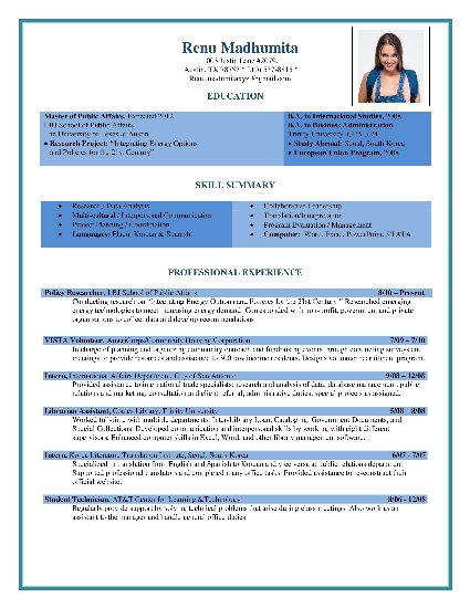 browse our popular resume formats
